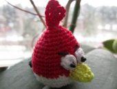 Миниатюра к статье Мастер-класс: Как связать крючком злую птичку из игры Angry Birds