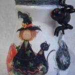 декупаж вазы на тему Хеллоуин
