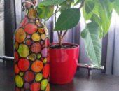Миниатюра к статье Декорирование стеклянной бутылки в технике винтаж