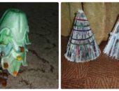 Миниатюра к статье Елка из подручных материалов своими руками: из журнала и упаковки для яиц