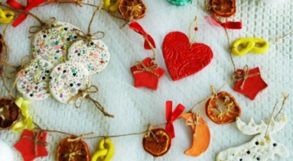 Миниатюра к статье Елочные игрушки из соленого теста своими руками