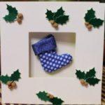 Миниатюра к статье Новогодняя открытка своими руками: рождественский сапожок