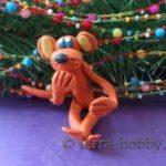 Миниатюра к статье Огненная обезьянка из пластилина своими руками