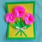 Миниатюра к статье Объемная открытка с розами из бумаги