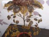 Миниатюра к статье Топиарий подсолнух из кофе и бисера