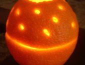 Миниатюра к статье Подсвечник из апельсина. Мастер-класс.