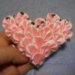 Миниатюра к статье Сердце канзаши из атласной ленты