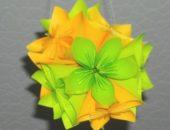 Миниатюра к статье Цветочный шар 3 Д из бумажных лилий своими руками с помощью технологии оригами
