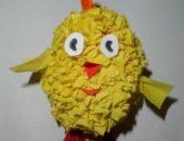 Миниатюра к статье Пасхальный цыпленок из бумаги в технике торцевание