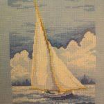 Миниатюра к статье Как вышить крестиком картину «Яхта» для начинающих