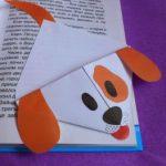 Миниатюра к статье Закладка-уголок собачка из бумаги